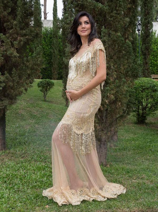 Foi a coisa mais mágica do mundo, disse Mariana sobre a gravidez de gêmeos (Foto: Mamãe e Bebê Fotografias)
