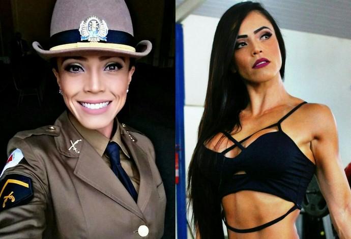 rosiane policia araxa arnold classic 2016  (Foto: Rosiane Santos/Arquivo pessoal )
