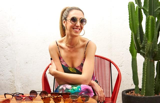 Olho no Olho: Chantal Goldfinger apresenta os novos óculos da Dolce & Gabbana (Foto: Tatiana Viana e Rodrigo Caldas)