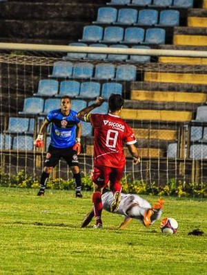 Assim como no último embate entre os dois times, o goleiro Fábio Noronha foi o destaque da partida com suas defesas. (Foto: Divulgação/Arquivo Pessoal)