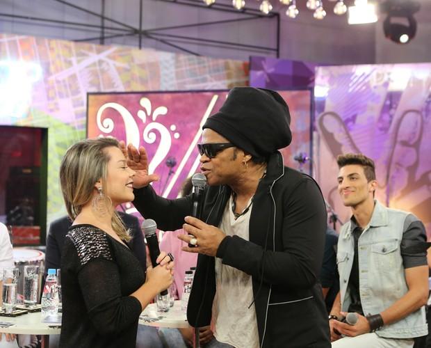 Fernanda Souza Carlinhos Brown (Foto: Isabella Pinheiro/Gshow)