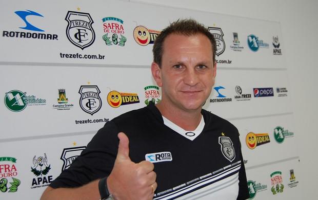 Luciano Silva, técnico do Treze (Foto: Silas Batista / Globoesporte.com/pb)