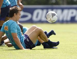 Dagoberto, Cruzeiro, treino, Toca da Raposa II (Foto: Washington Alves / Vipcomm)
