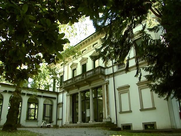 Casa de Carlos Gomes em Leco, na Itália (Foto: Reprodução/ EPTV)