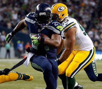 Marshawn Lynch, Seattle Seahawks x Green Bay Packers (Foto: Getty Images)