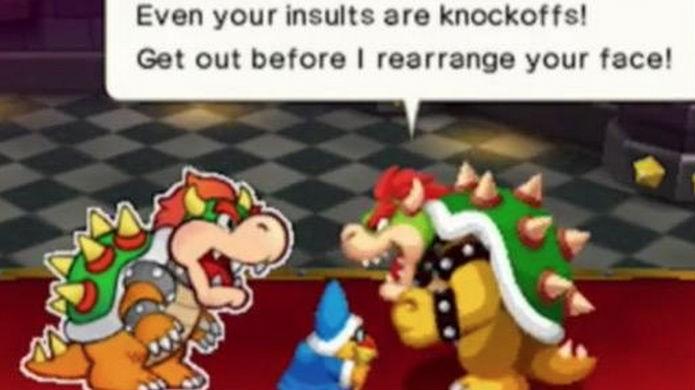 Dois Bowsers em ação em Mario & Luigi Paper Jam (Foto: Divulgação/Nintendo)