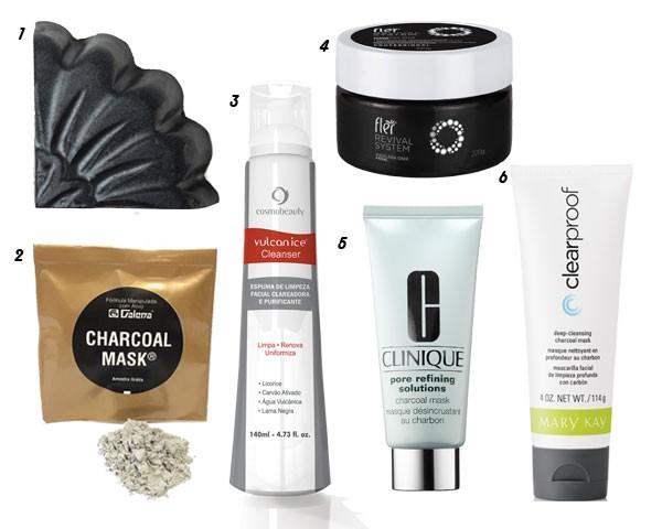 Seleção de produtos para a pele com carvão (Foto: Divulgação)