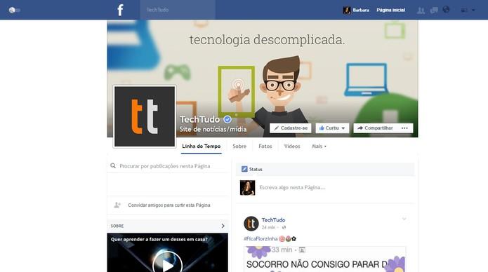 Facebook Flat promete carregar páginas de forma mais rápida (Foto: Reprodução/Barbara Mannara)