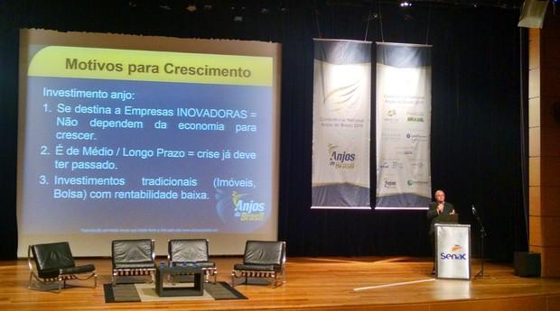 Cassio Spina, fundador e presidente da Anjos do Brasil, durante evento em São Paulo (Foto: Renata Leal/PEGN)