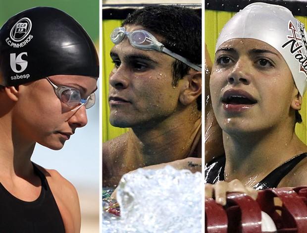 natação flavia delaroli glauber silva Pamela souza maria lenk doping (Foto: Satiro Sodré / Agif)