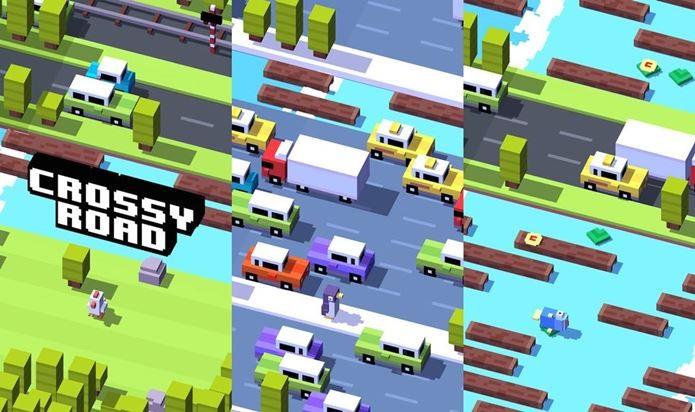 Crossy Road é o jogo mais viciante lançado em 2014 para iOS (Foto: Divulgação)