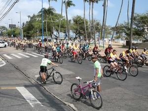 Passeio Ciclístico, Dia do Sorvete, Fortaleza (Foto: Natasha Mota/Agência Diário)