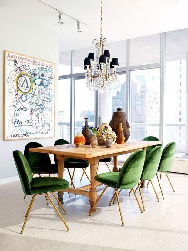 sala de jantar veludo (Foto: divulgação)