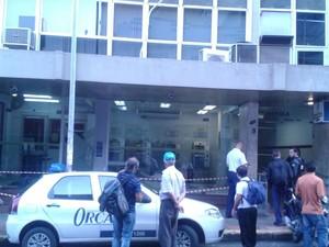 Criminosos agiram durante a madrugada no centro da capital (Foto: Silvana Sagaz/Divulgação)