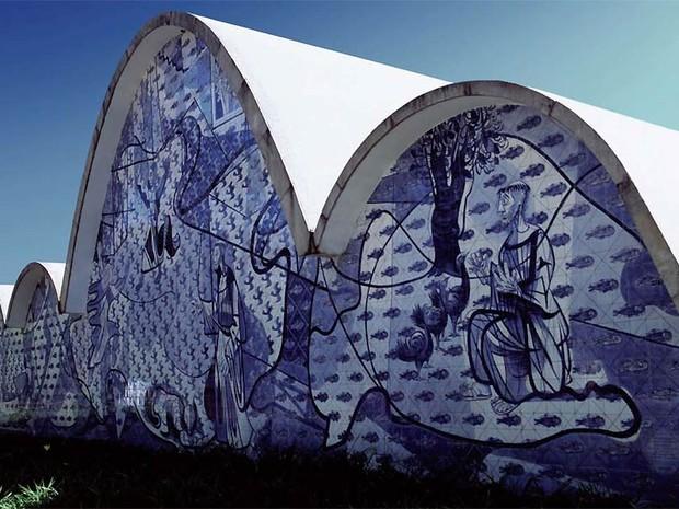 A Igreja São Francisco de Assis, também conhecida como Igreja da Pampulha, localizada nas margens da Lagoa da Pampulha em Belo Horizonte (MG) (Foto: Kadu Niemeyer e Acervo da Fundação Oscar Niemeyer)