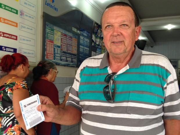 Apostador do DF joga em outro prêmio para 'evitar' Mega Sena (Foto: Gabriel Luiz/G1)