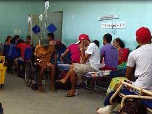 Hospital Municipal Santarém (Foto: Imagens de celular)