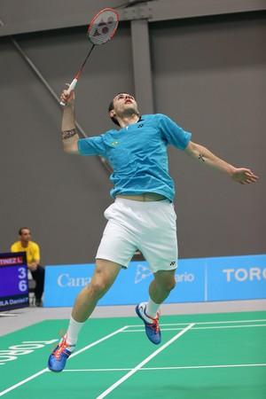 Daniel Paiola; Badminton; Jogos Pan-Americanos (Foto: Saulo Cruz/Exemplus/COB)