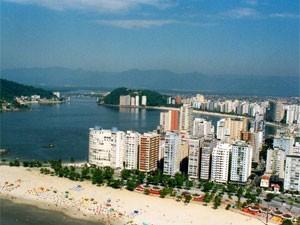 Vista aérea de São Vicente (Foto: Divulgação)
