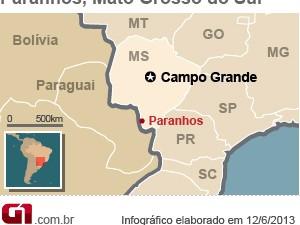 Paranhos (Foto: Editoria de arte/G1)