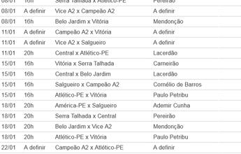 FPF divulga tabela básica completa do Campeonato Pernambucano de 2017