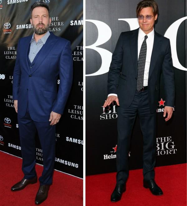 Os atores Ben Affleck e Brad Pitt (Foto: Getty Images)