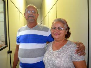 Jorge e Vera na seletiva (Foto: Hellen Monteiro/ Rede Amazônica)