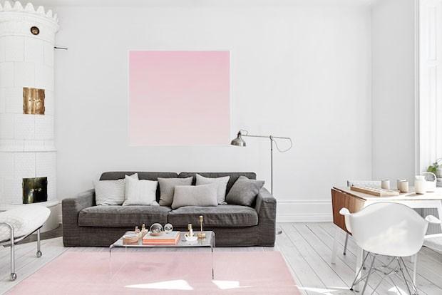 Decoracao De Sala De Estar Em Rosa ~ sala de estar acima é um ótimo exemplo de como misturar itens
