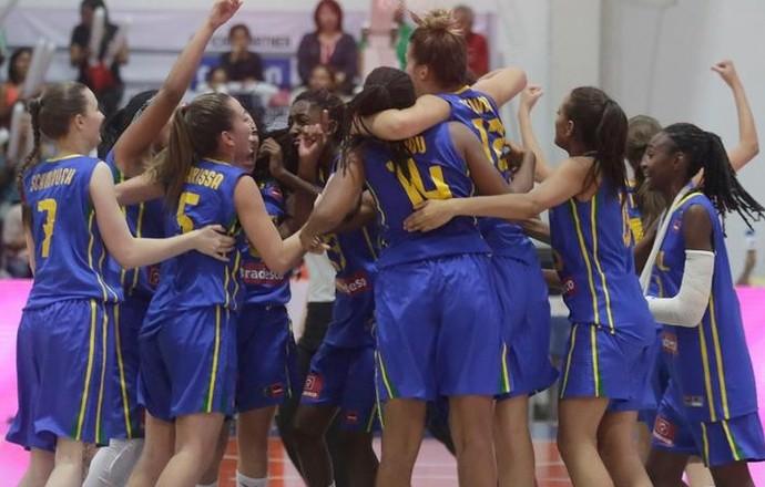 Brasil x Estados Unidos Copa América Sub-16 basquete feminino (Foto: Reprodução/Twitter)