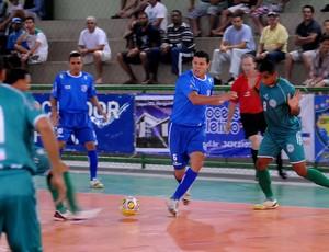 O Minas Tênis (MG) goleou o Jardim Limoeiro-ES por 6 a 0 (Foto: Luciano Bergamaschi/CBFS)