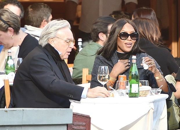 Naomi Campbell e o empresário Diego Della Valle (Foto: The Grosby Group)