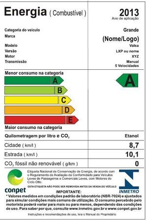 etiqueta inmetro carros (Foto: Divulgação)