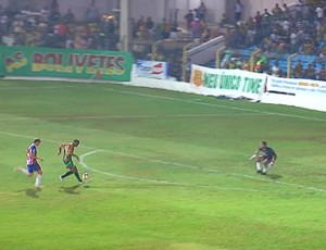 Edgar fez segundo gol do Sampaio contra Maranh&#227;o na decis&#227;o do Estadual 2012 (Foto: Reprodu&#231;&#227;o/TV Mirante)