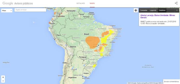 Google Avisos Públicos tem site dedicado ao Brasil para alertas importantes (Foto: Divulgação/Google)