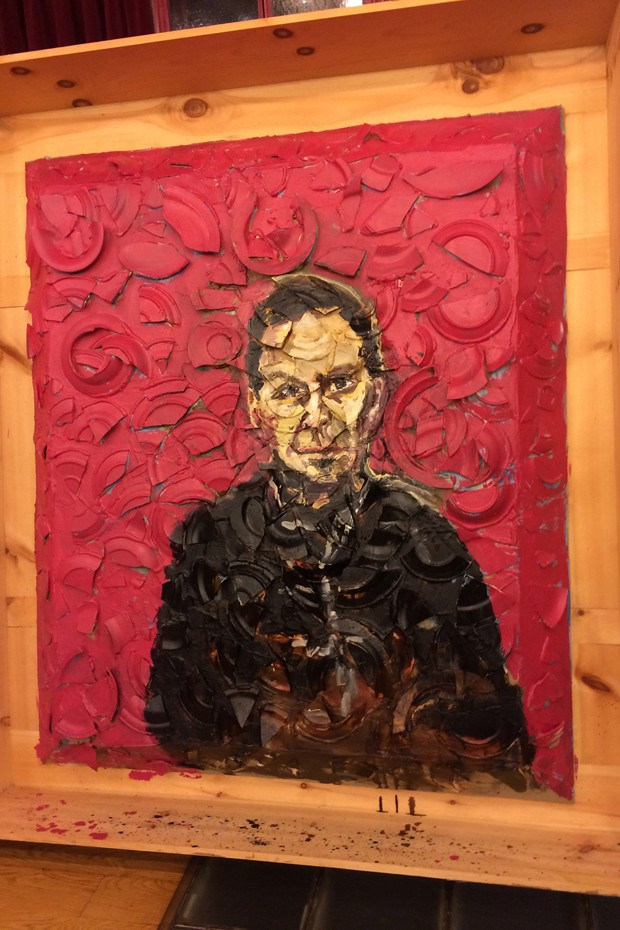 Portrait of Alaia by artist Julien Schnabel (Foto: Divulgação)