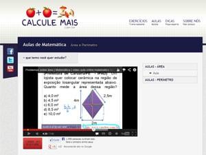 Calcule Mais, videoaulas, aulas em vídeo (Foto: Reprodução)
