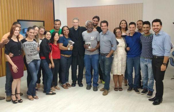 Padre Marcelo Rossi lança livro em Montes Claros (Foto: Jackson Machado/Inter TV Grande Minas)