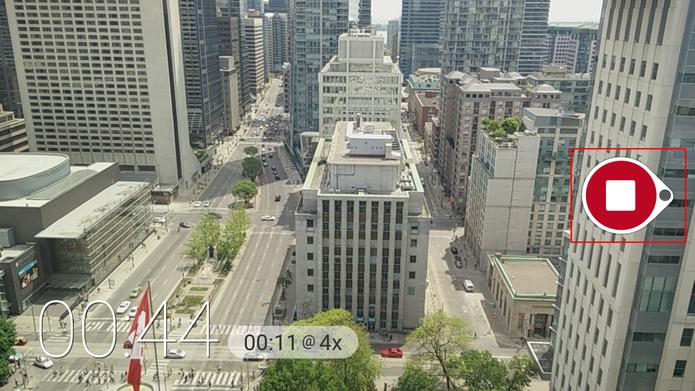 Microsoft Hyperlapse Mobile mostra qual o tempo da gravação em alta velocidade na parte inferior (Foto: Reprodução/Elson de Souza)