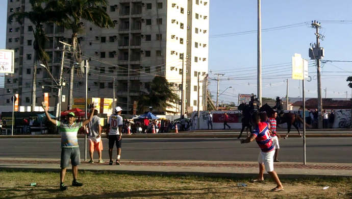 Confusão, Clássico-Rei, Ceará, Fortaleza (Foto: Juscelino Filho)