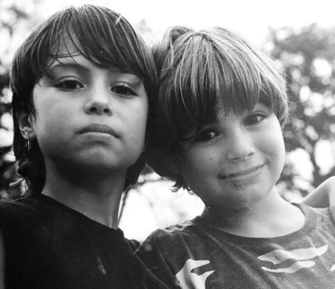 Olha que dupla fofa: Francisco e Rafael Vitti! (Foto: Arquivo pessoal)