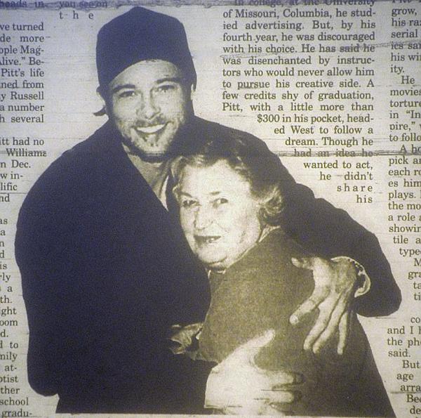 O ator Brad Pitt com a avó, Betty Russel (Foto: Reprodução)