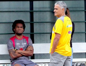 Gaúcho e Carlos Alberto no treino do Vasco (Foto: Cezar Loureiro / Agência O Globo)
