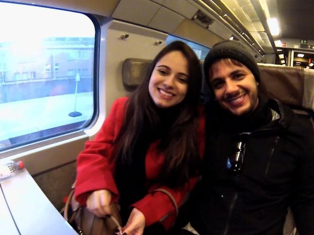 Cristiano Araújo e Allana Moraes, Goiás (Foto: Reprodução/TV Anhanguera)