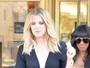 Khloe Kardashian investe em look sexy para fazer compras nos EUA