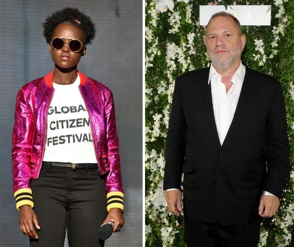 A atriz Lupita Nyong'o e o produtor Harvey Weinstein (Foto: Getty Images)