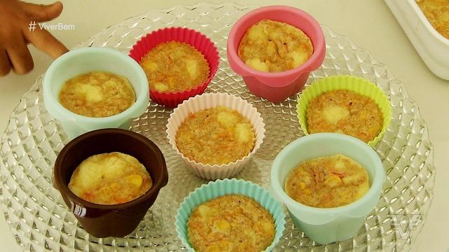 Cupcake de legumes  (Foto: Reprodução/TV Tribuna)