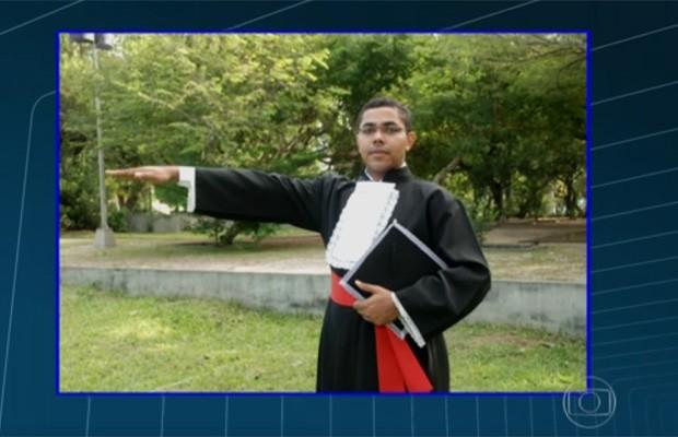 Manoel Luís da Silva, de 35 anos, foi atingido na cabeça (Foto: Reprodução/TV Globo)