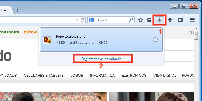 Acessando a opção de download do Firefox (Foto: Reprodução/Edivaldo Brito)