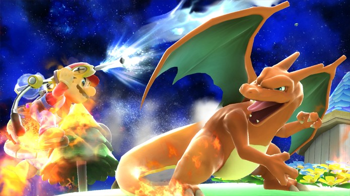 Charizard é um dos mais novos lutadores confirmados para Super Smash Bros. (Foto: gematsu.com)
