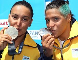 Poliana e Ana Marcela mundial maratona aquática barcelona  (Foto: Satiro Sodré / SSPress)